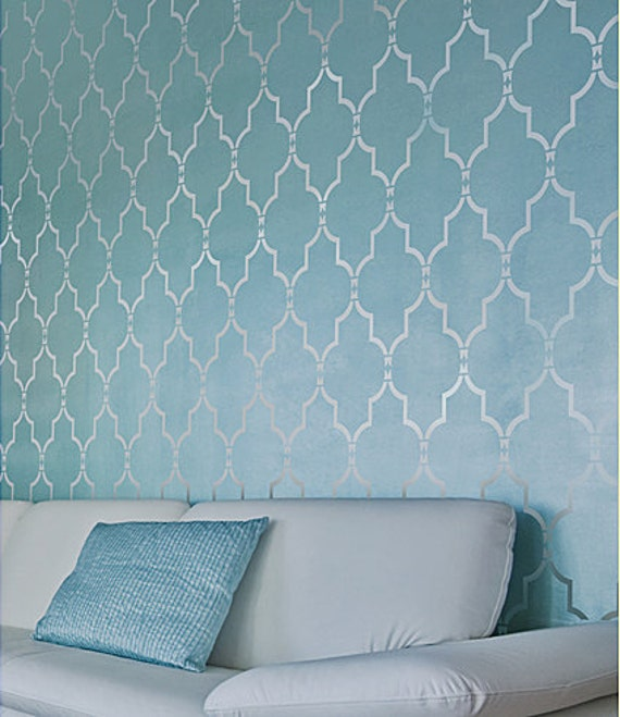 Wall stencil marrakech trellis lg by cuttingedgestencils for Stencil wall art