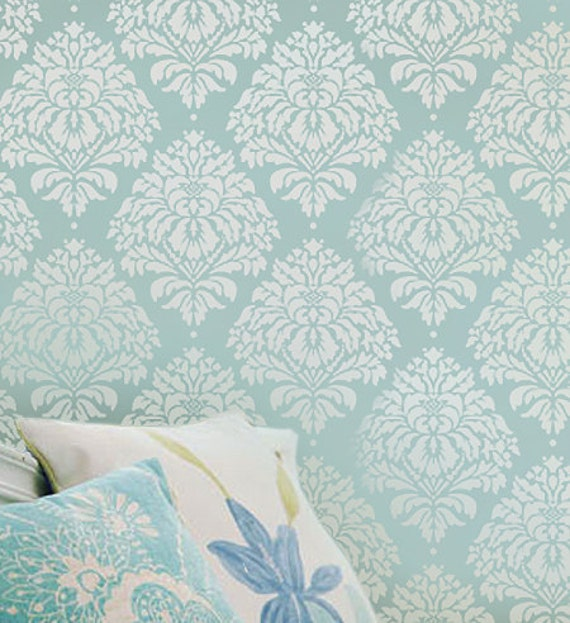 Kerry Damask Wall Stencil - Small - Reusable stencils. Better than wallpaper! - DIY decor