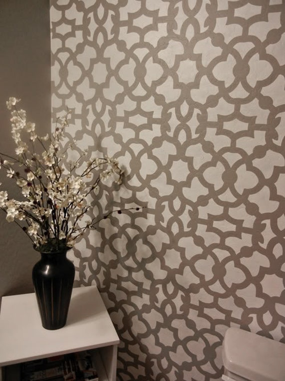 Moroccan Stencil Zamira Allover - Short - reusable wall stencil patterns for walls instead of wallpaper - DIY decor