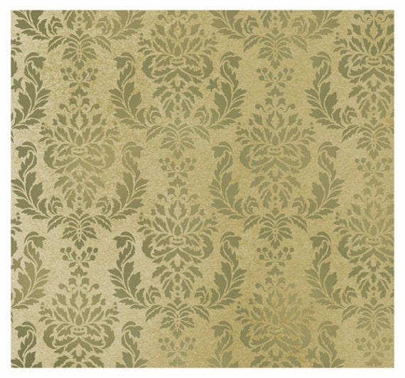 Verde Damask Wall Stencil Allover Wall Pattern for DIY Wall