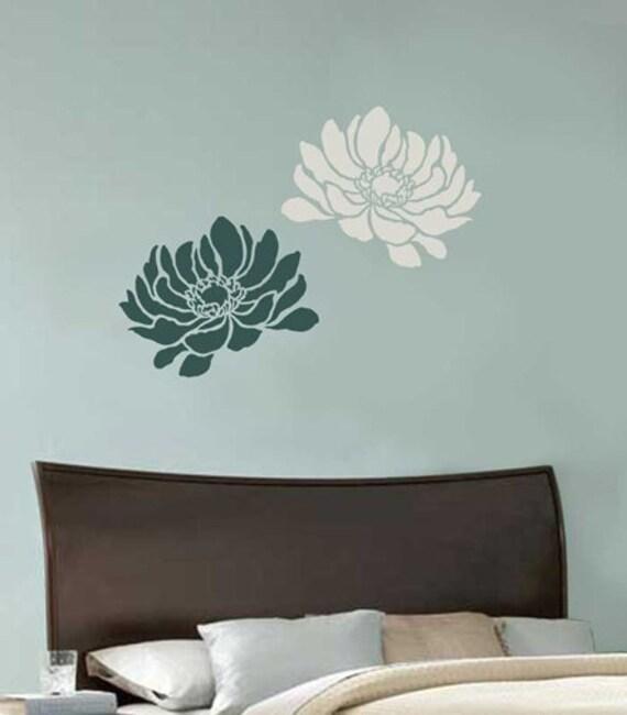 Anemone Grande Flower Stencil - Medium Size - Reusable Stencils for Walls - Better than Decals! - Easy DIY - Stencils for Home Décor