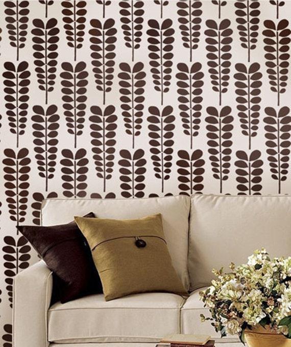 Acacia Allover Stencil - Reusable stencils for walls - DIY home décor - Easy DIY wall décor - Better than wallpaper!