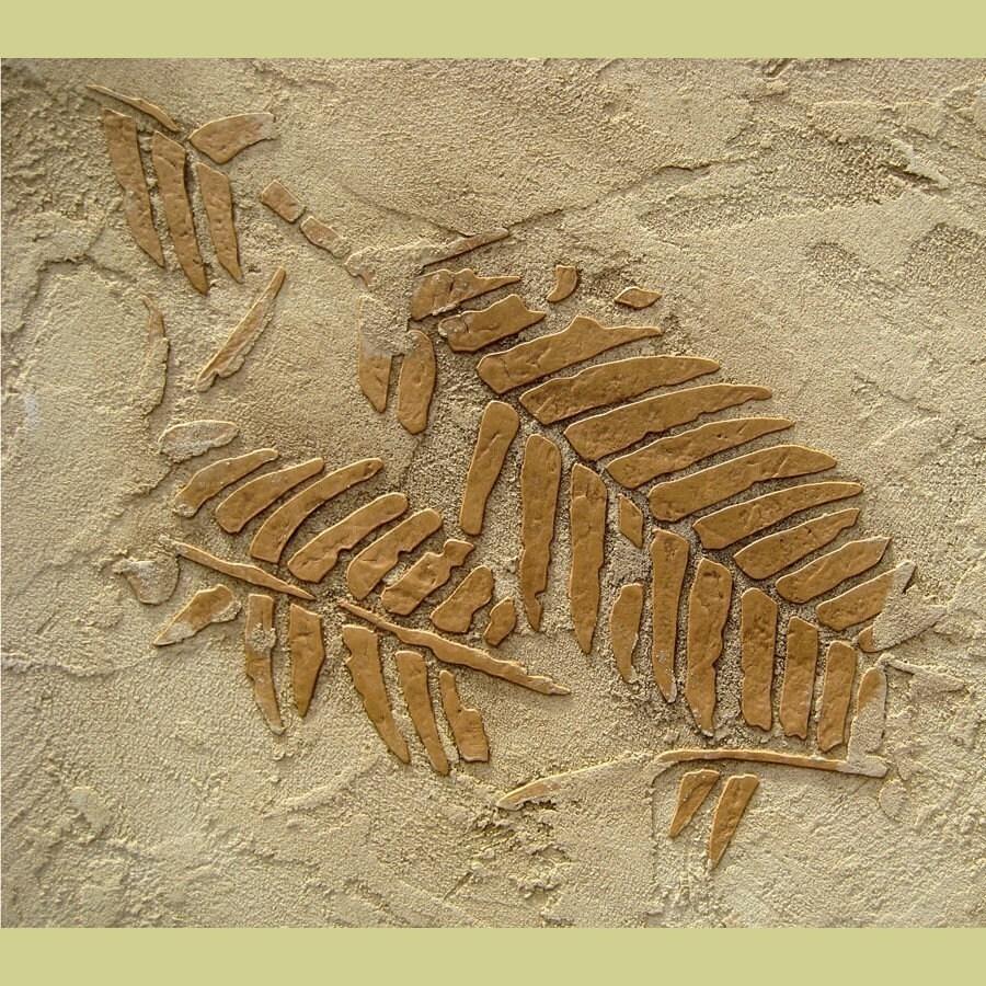 Stencil prehistoric fern fossils raised plaster stenciling zoom amipublicfo Gallery