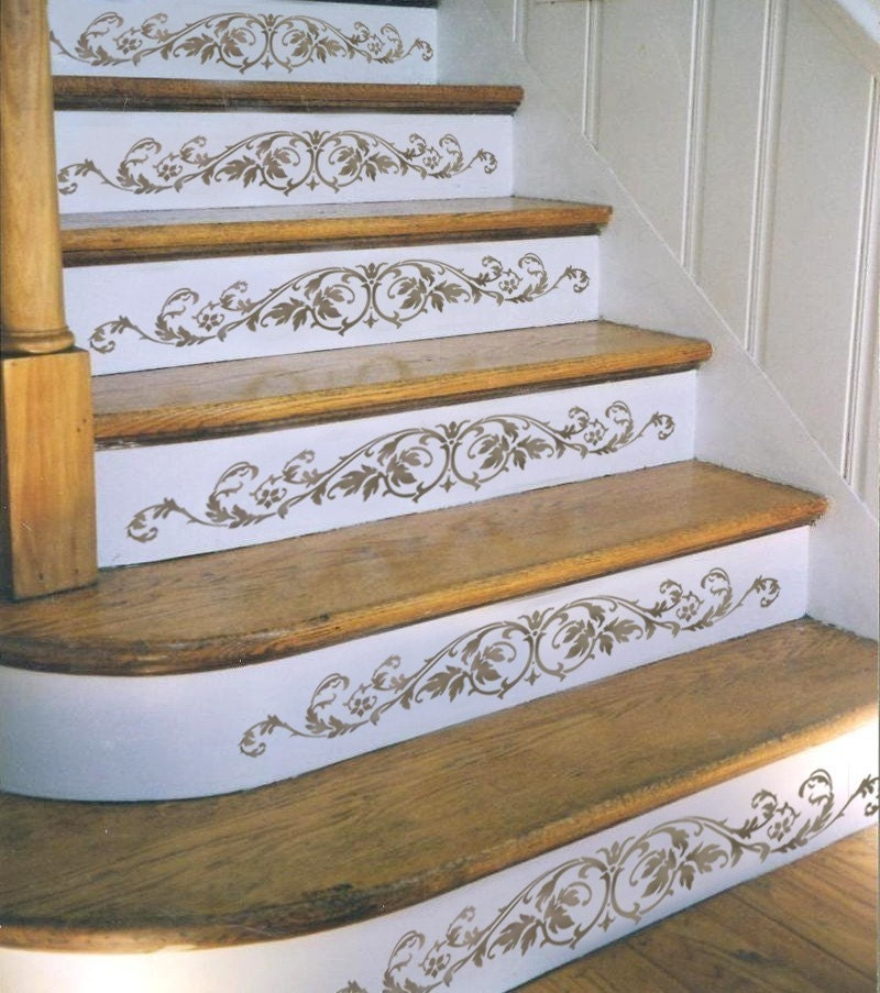 4 Diy Decorating Ideas For A Staircase: Staircase Stencil Westbury Stair Riser Stencils For