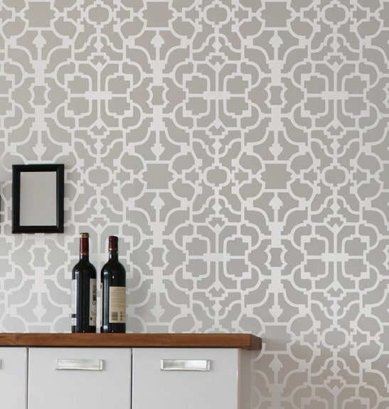 Wallpaper Wall Stencils : Wall stencil vision reusable wallpaper stencils money