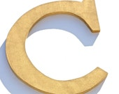 Custom Wood Gold Letter C, Wall Decor Letters, Chic Decor Initials, Personalized
