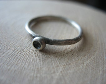 Solo Cup Mushroom Sterling Silver Ring
