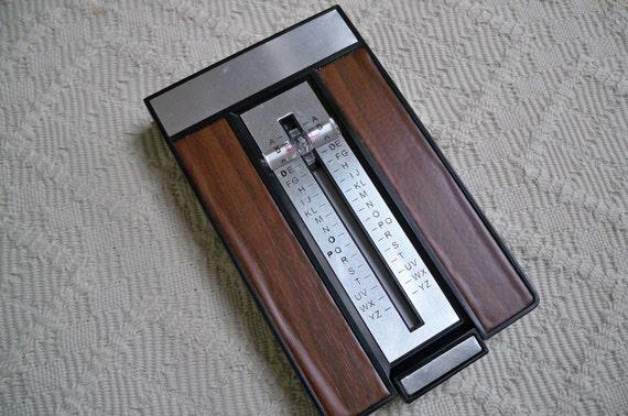 Vintage Telephone Flip Index Office Accessory 1970