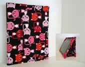 iPad Cover Hardcover iPad Case Cover Custom iPad iPad 2 iPad 3 Cover Pink and Red Kitty Cats
