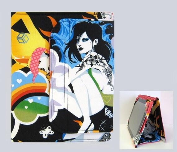 iPad Cover Hardcover iPad Case Cover iPad 2 Cover iPad 3 Cover Custom Tablet Tattoo Girl