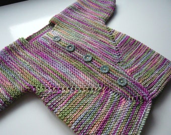Hand Knitted Baby Jacket - New Born to 6 months old