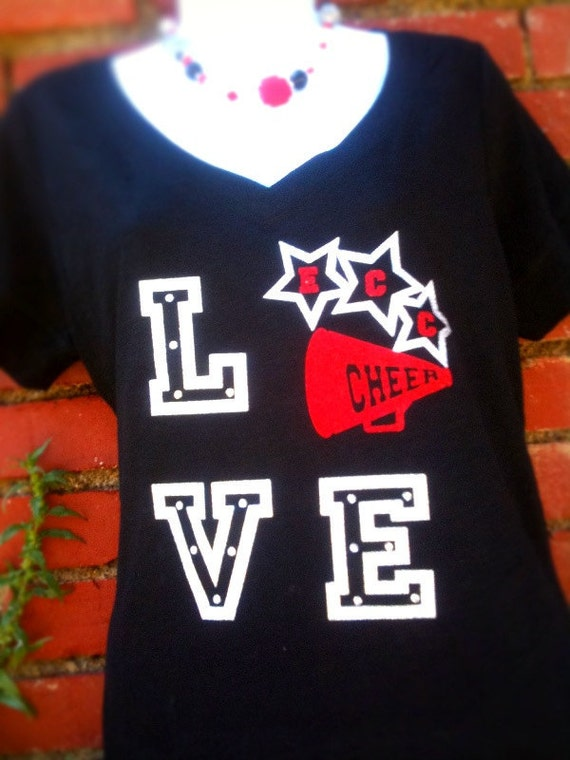 love tshirt mascot cheer baseball football custom shirt