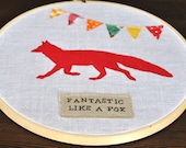 Fantastic Like a Fox Embroidery Hoop