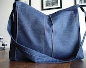Scotia Hobo Bag in Dark Denim