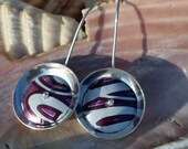 Recycled Soda Can Earrings - Pink