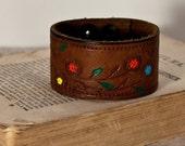 Small Petite Leather Cuff Women's Wristband