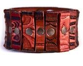Leather Bracelet Cuff Wristband OOAK