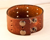 Accessories for Guy's Men's Jewelry Brown Leather Cuff
