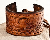 Men's Leather Cuff Guy's Accessories Jewelry Male OOAK