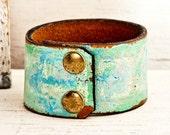 Women's Leather Wristbands Cuffs Bracelets OOAK