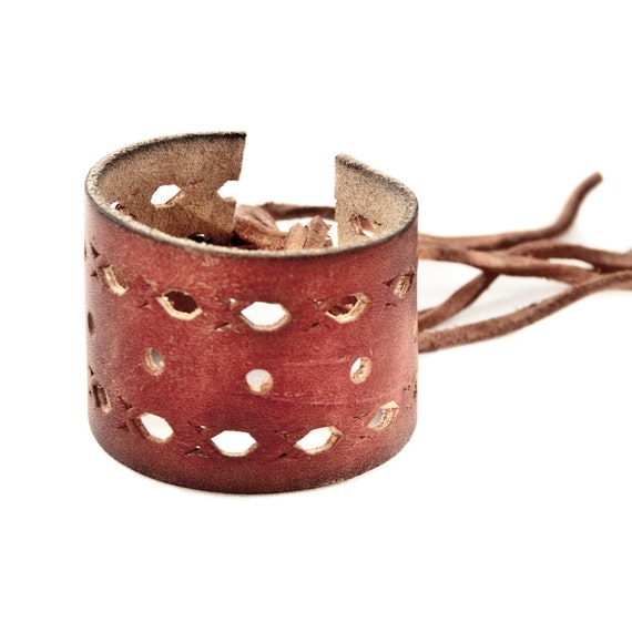 CIJ SALE Leather Cuffs Wristbands Bracelets Upcycled Jewelry -  Summer - Fashion Accessories- Christmas in July - South West - Bohemian