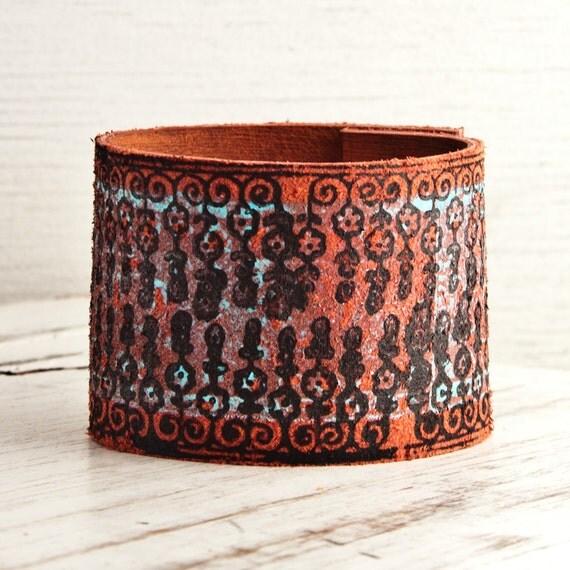 Leather Jewelry Cuffs Bracelets Wristbands for Womens OOAK