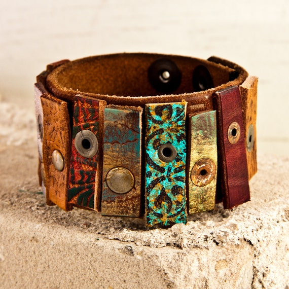 OOAK Leather Cuff Original Limited Rare