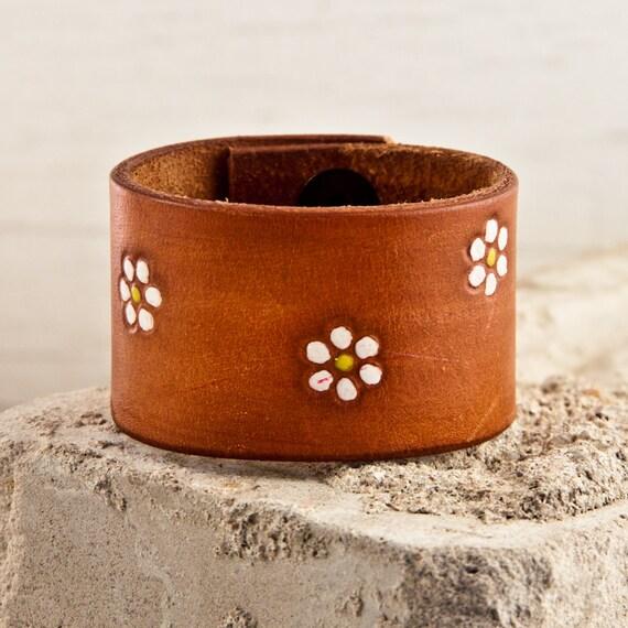 Leather Cuff Bracelet Wristband Winter  Power