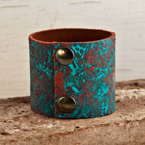 Turquoise Jewelry Leather Cuffs Wristbands Cuff Shop Etsy Christmas Gifts For Her Holiday Sale