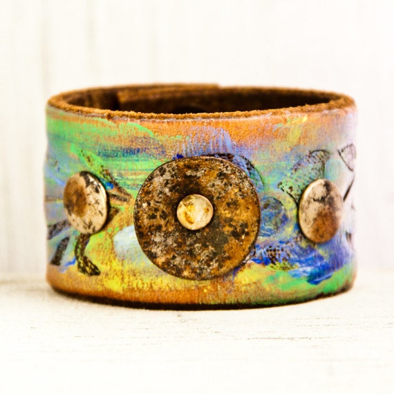 Cuff Bracelet Wristband Reclaimed Repurposed OOAK