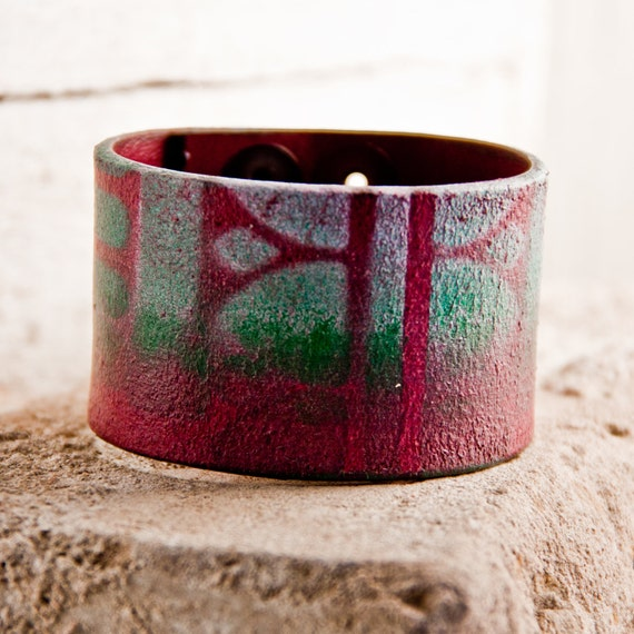 SALE Leather Cuff Bracelet Gift For Her December Finds Last Minute Christmas Gift Guide 2013 Buy Etsy