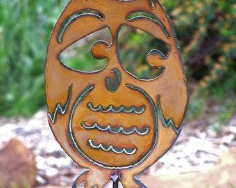 Owl Garden Stake Rustic Backyard Hoot Owl