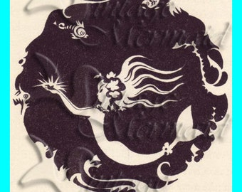 s195 QUILT FABRIC MERMAID Pirate Mermaid Cartoon Fabric Block : mermaid quilt fabric - Adamdwight.com