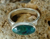 Sterling Silver Chrysocolla Ring