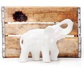 Ornamental Vintage White Elephant