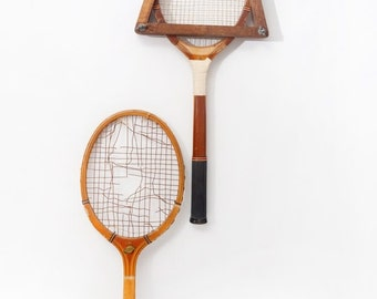 1940s His 'n Hers Wooden Tennis Rackets