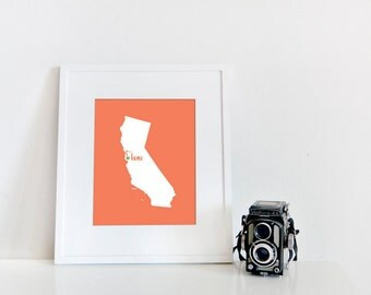 San Francisco is My Home // 8x10 Digital California Print