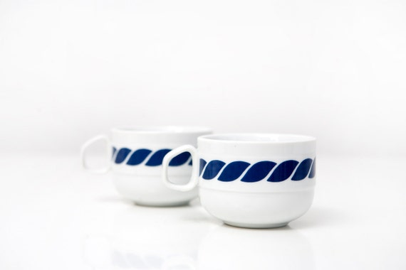 Vintage Bob van Allen for Mikasa - Stone China Mugs