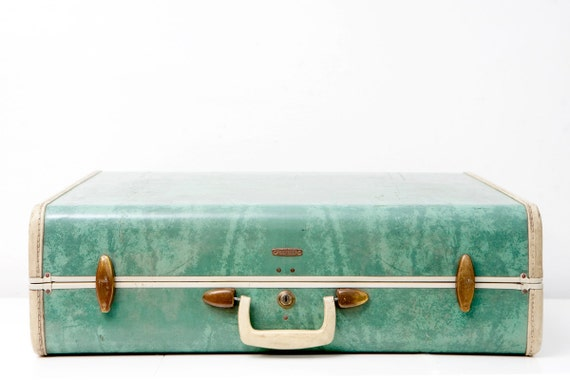 Large Bermuda Green Samsonite Suitcase