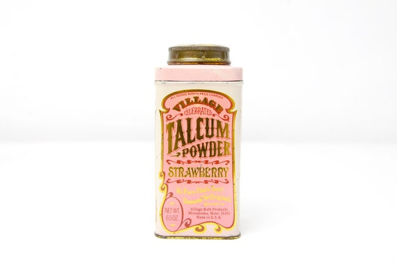 Vintage Strawberry Talcum Powder Tin by Village Bath Products