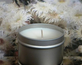 HONEY FARM Soy Candle Tin - Honey & Almond Scented Candles - Handmade Soy Candles