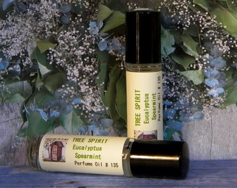 Anti Stress Oil TREE SPIRIT  Aromatherapy Oil - Eucalyptus Spearmint Cologne Oil