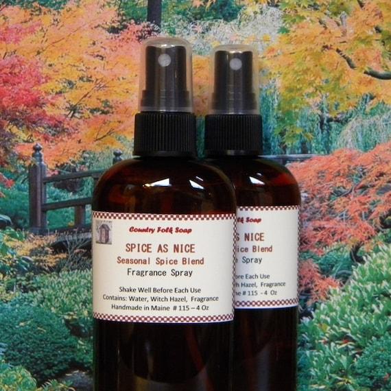 Spice As Nice Home Fragrance Spray - Handmade Fall Spice Air Freshener Spray - Kitchen Scent Spray