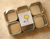 Square Window Tins - set of 45 - 2 x 2 x 1 - 2 Ounces Capacity - Perfect for Spices, Wedding Favors and Retail Packaging