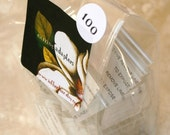 QTY 25 Ultra Clear Bags - Gusset Lunch Sack Shape - 4 x 2 1/2 x 8 Inches - Flat Bottom