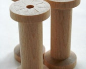 Large Wooden Spools - set of 8 - Natural Wood Thread Spools