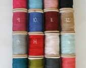 Rayon Binding Tape Custom Color Pack - 10 Yds Each Five Colors - 50 Yards on Wooden Spools - Packaging and Gift Ribbon