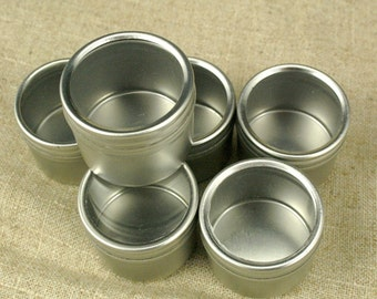 "Round Window Tins - 1 9/16"" x 1 1/4""  set of 12"
