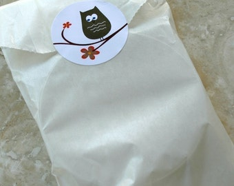 QTY 100 Medium Flat 3 inch x 5.5 inch Glassine Bags - Favors, Treats, FDA Approved for Food Contact