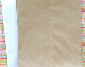 Set of 50 - Brown Kraft Flat Merchandise Bags - 6.25 x 9.25 Inches - Gifts and Packaging